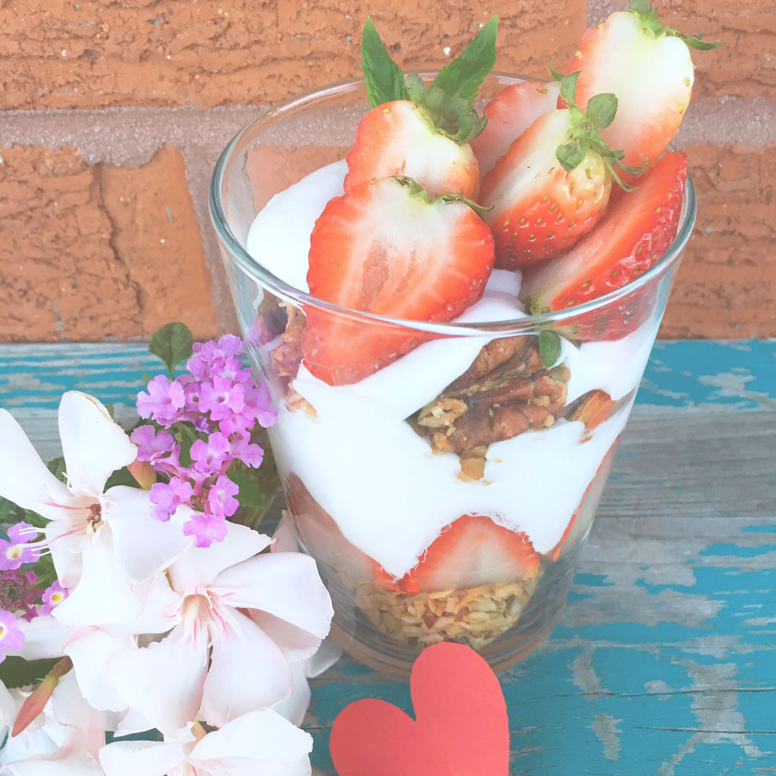 Strawberry Coconut Parfait with homemade Granola